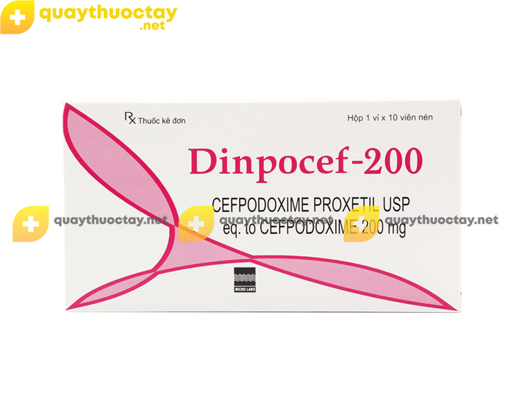 Thuốc Dinpocef 200