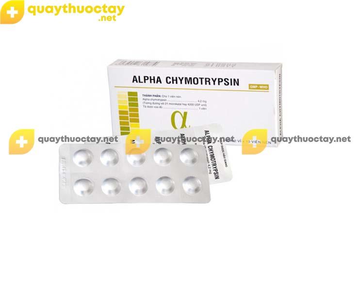 Thuốc Alphachymotrypsin